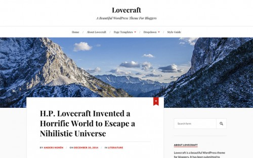 lovecraft-wordpress-tema