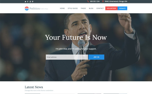 politics-wordpress-tema